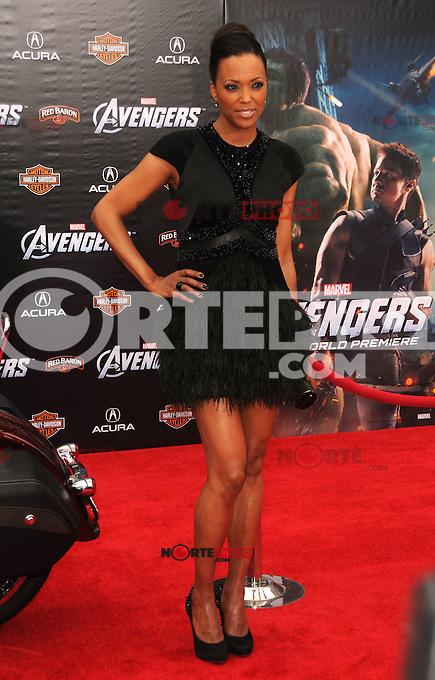 Aisha Tyler Asiste al estreno mundial de &quot;The Avengers&quot;, celebrado en el Teatro El Capitan en Hollywood, California el 11 de abril, 2012.<br /> (Foto:&copy;mpi35/MediaPunch/NortePhoto.com