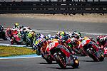 Jerez Circuit. Jerez de la Frontera. 04.05.2014. The riders during the MotoGP race in Jerez.