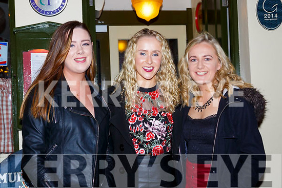 Jennifer Daly, Aoife Murphy, and Ciara Lynch celebrating New Years Eve in Murphys bar Killarney