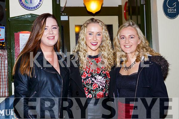 Jennifer Daly, Aoife Murphy, and Ciara Lynch celebrating New Years Eve in Murphys bar Killarney