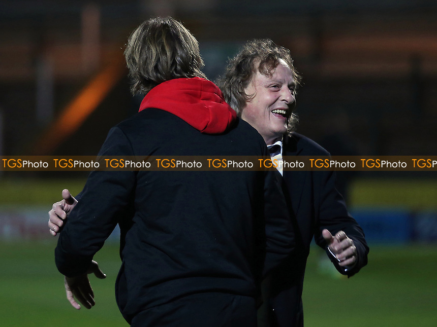 MK Dons Chairman, Pete Winkelman wishes new manager, Robbie Neilson the best of luck pre-match during Yeovil Town vs MK Dons, Checkatrade Trophy Football at Huish Park on 6th December 2016