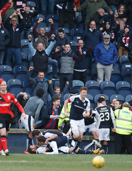 Raith Rovers celebrate their last gasp equaliser
