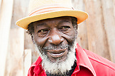 "JAMAICA, Port Antonio. Derrick ""Johnny"" Henry of the Mento band, The Jolly Boys."
