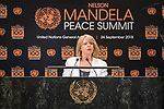 Opening Plenary Meeting of the Nelson Mandela Peace Summit<br /> <br /> His Excellency Thomas Motsoahae THABANEPrime Minister of the Kingdom of Lesotho