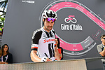 Tom Dumoulin (NED) Team Sunweb at sign on before the start of Stage 9 of the 2018 Giro d'Italia, running 225km from Pesco Sannita to Gran Sasso d'Italia (Campo Imperatore), this year's Montagna Pantani, Italy. 13th May 2018.<br /> Picture: LaPresse/Gian Mattia D'Alberto | Cyclefile<br /> <br /> <br /> All photos usage must carry mandatory copyright credit (&copy; Cyclefile | LaPresse/Gian Mattia D'Alberto)