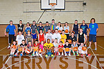 Killarney basketballers at the Puff Somers basketball camp in St Brendans College on Saturday