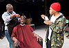 Barbershop Chronicles <br /> A co-production with Fuel &amp; West Yorkshire Playhouse<br /> by Inua Ellams<br /> at the Dorfman Theatre, National Theatre, London, Great Britain <br /> Press photocall <br /> 6th June 2017 <br /> <br /> <br /> <br /> Fisayo Akinade<br /> <br /> <br /> Abdul Salis <br /> as Kwame <br /> <br /> Cyril Nri <br /> as Emmanuel <br /> <br /> <br /> Photograph by Elliott Franks <br /> Image licensed to Elliott Franks Photography Services