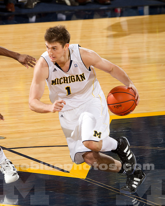 The University of Michigan men's basketball team defeated Alabama A&M 87-57 at Crisler Arena in Ann Arbor, Mich., on December 17, 2011.