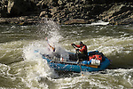 Whitewater rafting through Grave Creek Rapids on the Rogue River, Oregon..#0604062
