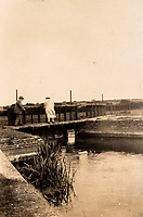 BNPS.co.uk (01202 558833)<br /> Pic: ForumAuctions/BNPS<br /> <br /> Hardy and his wife Florence at 'Ten Hatches weir' on the floodplain outside Dorchester - where Henchard contemplated suicide at the end of The Mayor of Casterbridge.<br /> <br /> Extraordinary photo album reveals Thomas Hardy as personal tour guide around his most famous novel.<br /> <br /> A personalised photograph album documenting a guided tour of 'Casterbridge' that novelist Thomas Hardy gave a literary friend has emerged almost 100 years later.<br /> <br /> The famous author showed playwright John Drinkwater the real-life locations that inspired him to write the classic 1886 novel The Mayor of Casterbridge.<br /> <br /> Mr Drinkwater took photographs of various venues that feature prominently in the novel.<br /> <br /> He also captured some of the last images of Hardy who died two years later.
