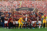 Team of Flamengo celebrate wins after the 2019 Copa Libertadores Final between Flamengo of Brazil and River Plate of Argentina at Estadio Monumental U in Lima, Peru on 23 Nov 2019. PUBLICATIONxNOTxINxBRA <br /> Photo Imago/Insidefoto