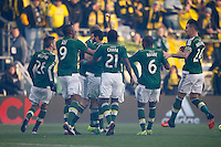 Columbus, Ohio. - Sunday, December 6, 2015: The Portland Timbers defeated Columbus Crew SC 2-1 in the 2015 MLS (Major League Soccer) Cup Championship at Mapfre stadium.