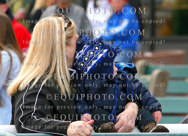 Fans at Parx Racing in Bensalem, Pennsylvania March 10, 2012.  Photo By EQUI-PHOTO