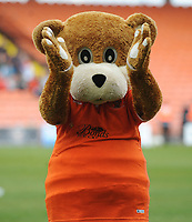 Blackpool mascot Bloomfield Bear<br /> <br /> Photographer Kevin Barnes/CameraSport<br /> <br /> The EFL Sky Bet League One - Blackpool v Gillingham - Saturday 4th May 2019 - Bloomfield Road - Blackpool<br /> <br /> World Copyright © 2019 CameraSport. All rights reserved. 43 Linden Ave. Countesthorpe. Leicester. England. LE8 5PG - Tel: +44 (0) 116 277 4147 - admin@camerasport.com - www.camerasport.com