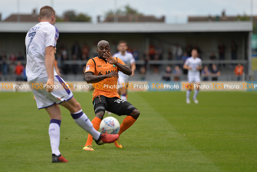 Jack Stacey of Luton Town clears the ball during Barnet vs Luton Town, Sky Bet EFL League 2 Football at the Hive Stadium on 12th August 2017