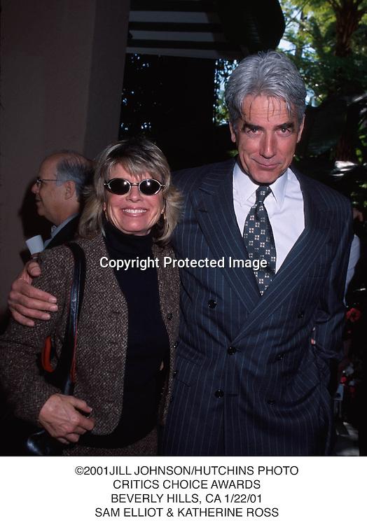 ©2001JILL JOHNSON/HUTCHINS PHOTO.CRITICS CHOICE AWARDS.BEVERLY HILLS, CA 1/22/01.SAM ELLIOT & KATHERINE ROSS
