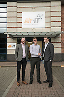 Air-IT have moved into Interchange 25 Business Park at Sandiacre, Nottingham. Pictured from left are Mark Tomlinson of FHP, James Healey, MD of Air-IT and Jeremy Boothroyd of landlords Hortons' Estate