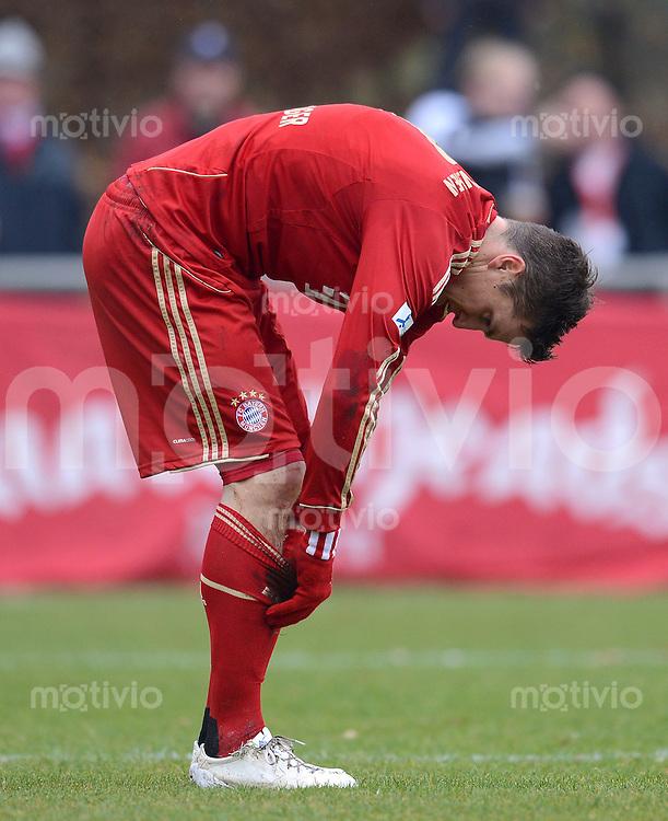 FUSSBALL  Regionalliga Sued   SAISON  2012/2013   21. Spieltag   11.11.2012 FC Bayern Muenchen II - Bayern Hof Tobias Schweinsteiger (FC Bayern II)