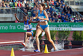 June 15th 2017, Bislett Stadion , Oslo, Norway; Diamond League Oslo Bislett Games;  Fabienne Schlumpf of Switzerland competes in the ladies 3000m steeplechase during the IAAF Diamond League held at the Bislett Stadium