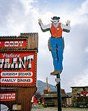 USA, Wyoming, exterior of the Palace Restaurant, Cody