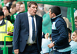 Celtic v St Johnstone &hellip;26.08.17&hellip; Celtic Park&hellip; SPFL<br />Tommy Wright talks with assistant Callum Davidson<br />Picture by Graeme Hart.<br />Copyright Perthshire Picture Agency<br />Tel: 01738 623350  Mobile: 07990 594431