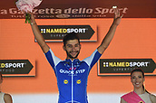 19th May 2017, Tortona, Piemonte, Italy; Giro D italia; Tstage 13 Reggio Emilia to Tortona; Fernando Gaviria  Quick - Step Floors; Gaviria Rendon, Fernando podium in Tortona;