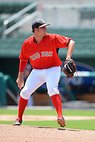 GCL Red Sox pitcher Willie Ethington (51) during a game against the GCL Twins on July 19, 2013 at JetBlue Park at Fenway South in Fort Myers, Florida.  GCL Red Sox defeated the GCL Twins 4-2.  (Mike Janes/Four Seam Images)