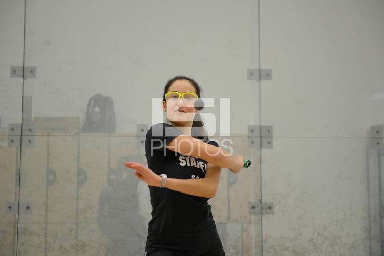 Stanford, California, 12-04-2013- Ariel Posner of Stanford Squash 2013.