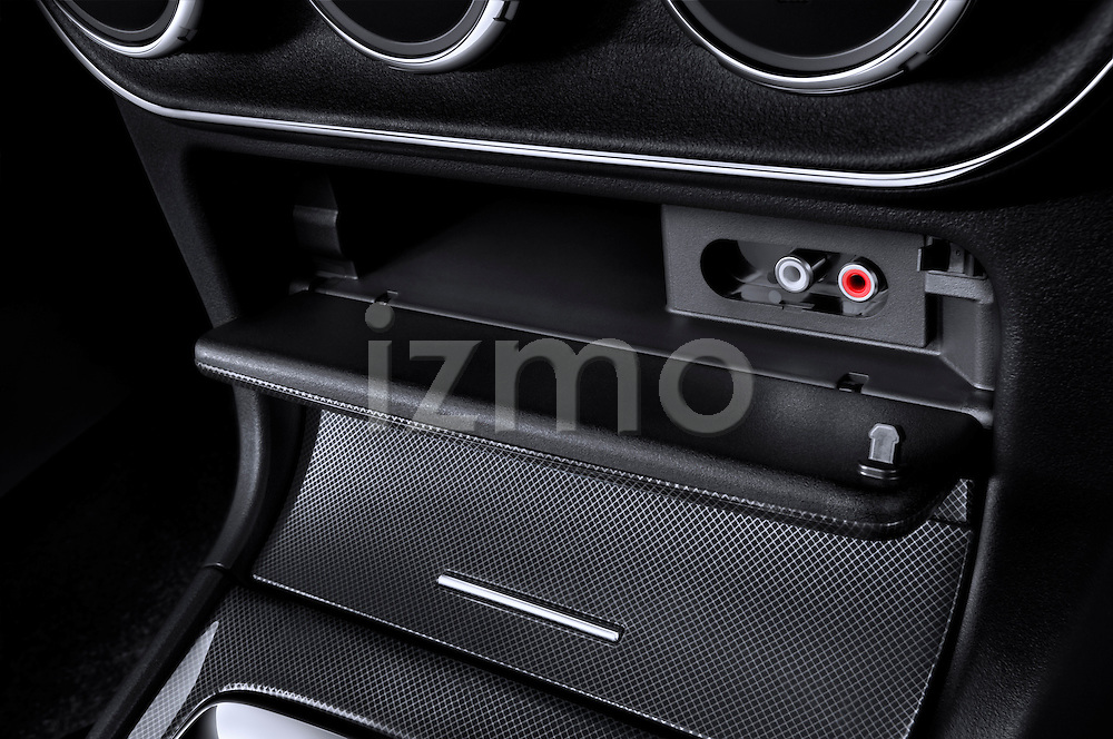 Closeup of Center Console Audio Input on a 2010 Mitsubishi Lancer Sportback