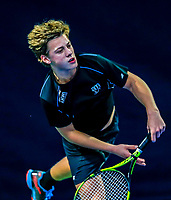 Hilversum, Netherlands, December 3, 2017, Winter Youth Circuit Masters, 12,14,and 16, years, Fons van Sambeek  (NED)<br /> Photo: Tennisimages/Henk Koster