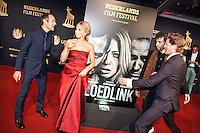 Utrecht, 24 september 2014<br /> Nederlands Film Festival<br /> Openingsavond met premiere van de film Bloedlink<br /> Vlnr: regisseur Joram L&uuml;rsen (Lursen), Sarah Chronis, Marwan Kenzari en Tygo Gernandt<br /> Foto Felix Kalkman