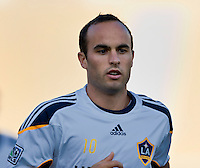 LOS ANGELES, CA – July 16, 2011: Landon Donovan (10) of the LA Galaxy during the match between LA Galaxy and Real Madrid at the Los Angeles Memorial Coliseum in Los Angeles, California. Final score Real Madrid 4, LA Galaxy 1.