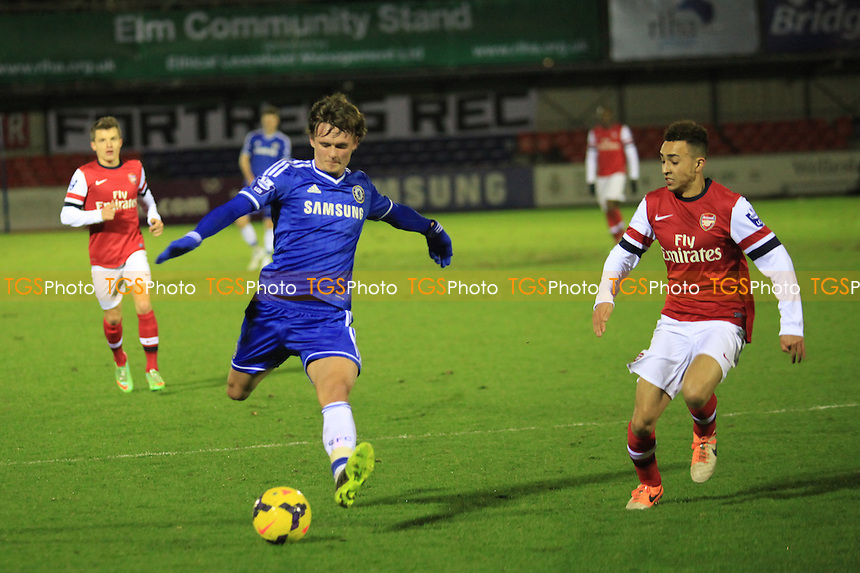 John Swift of Chelsea in action - Chelsea Under-21 vs Arsenal Under-21 - Barclays Under-21 Premier League Cup Football at Aldershot FC - 27/01/14 - MANDATORY CREDIT: Paul Dennis/TGSPHOTO - Self billing applies where appropriate - 0845 094 6026 - contact@tgsphoto.co.uk - NO UNPAID USE