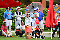 PATTAYA, THAILAND - FEBRUARY 22: Nasa Hataoka of Japan on the 18th green during the second round of the Honda LPGA Thailand 2019 at Siam Country Club Pattaya (Old Course), Pattaya, Thailand on February 22, 2019.<br /> .<br /> .<br /> .<br /> (Photo by: Naratip Golf Srisupab/SEALs Sports Images)<br /> .<br /> Any image use must include a mandatory credit line adjacent to the content which should read: Naratip Golf Srisupab/SEALs Sports Images