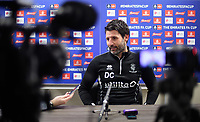 Lincoln City manager Danny Cowley speaks to the media during the club's weekly press conference<br /> <br /> Photographer Chris Vaughan/CameraSport<br /> <br /> Emirates FA Cup Third Round - Lincoln City Press Conference - Lincoln Elite Performance Centre - Scampton<br />  <br /> World Copyright &copy; 2019 CameraSport. All rights reserved. 43 Linden Ave. Countesthorpe. Leicester. England. LE8 5PG - Tel: +44 (0) 116 277 4147 - admin@camerasport.com - www.camerasport.com