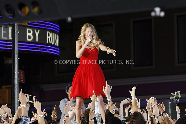 WWW.ACEPIXS.COM . . . . .  ....September 13 2009, New York City....Taylor Swift performed outside the 2009 MTV Video Music Awards at Radio City Music Hall on September 13 2009 in New York City.....Please byline: NANCY RIVERA- ACE PICTURES.... *** ***..Ace Pictures, Inc:  ..tel: (212) 243 8787 or (646) 769 0430..e-mail: info@acepixs.com..web: http://www.acepixs.com