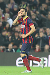 08.01.2014 Barcelona, Spain. Spanish Cup 1/8 Final. Picture show Francesc Fábregas after scoring during game between FC Barcelona against Getafe at Camp Nou