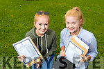 Identical twins Claire and Katie Dillon, Tralee, students from Presentation Secondary School, Tralee, who were all smiles after receiving their Leaving Certificate results on Wednesday morning last.