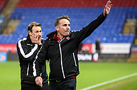 Bolton Wanderers' first team coach Julian Darby can't look as manager Phil Parkinson salutes the crowd after victory<br /> <br /> Photographer Andrew Kearns/CameraSport<br /> <br /> The EFL Sky Bet Championship - Bolton Wanderers v Rotherham United - Wednesday 26th December 2018 - University of Bolton Stadium - Bolton<br /> <br /> World Copyright © 2018 CameraSport. All rights reserved. 43 Linden Ave. Countesthorpe. Leicester. England. LE8 5PG - Tel: +44 (0) 116 277 4147 - admin@camerasport.com - www.camerasport.com
