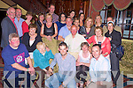 Mickie Joe Burns and Mary Moynihan, Killarney, pictured with family and friends as they celebrated their 25th wedding anniiversary in the Killarney Avenue hotel on Friday night.