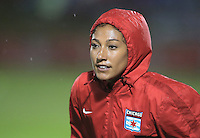 Boyds, MD - Friday Sept. 30, 2016: Christen Press prior to a National Women's Soccer League (NWSL) semi-finals match between the Washington Spirit and the Chicago Red Stars at Maureen Hendricks Field, Maryland SoccerPlex. The Washington Spirit won 2-1 in overtime.