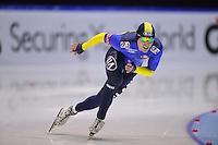 SCHAATSEN: HEERENVEEN: Thialf, World Cup, 03-12-11, 500m B, Viktor Glustshenko KAZ, ©foto: Martin de Jong