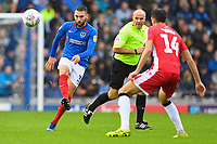 Ben Close of Portsmouth clears the ball during Portsmouth vs Gillingham, Sky Bet EFL League 1 Football at Fratton Park on 12th October 2019