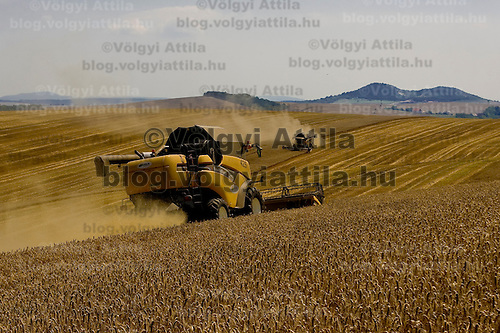 Wheat harvest is in progress in Gyermely, Hungary. Wednesday, 15. July 2009. ATTILA VOLGYI