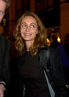 French actress Emanuelle Beart who is the President of the 25th World Film Festival's  Jury smile for a photo during the party of the German delegation at the Festival, August 26th, 2001.<br /> <br /> Brought up on a farm in Provence because her father, French singer and poet Guy BÈart didn't want her to be affected by the glamour world of Paris showbusiness, Emmanuelle BÈart nevertheless got the acting urge in early adolescence. At age 15, after a couple of bit parts, she came to Montreal as an au pair to learn English. Back in France, after acting lessons and few small roles in television, she made her big-screen breakthrough in the title role of Claude Berri's Pagnol adaptation, MANON OF THE SPRING (1986). A year later she made her Hollywood debut in Tom McLoughlin's DATE WITH AN ANGEL. She has since played for some of the premier directors on both sides of the Atlantic: Rivette (LA BELLE NOISEUSE, 1991), Sautet (NELLY AND MR. ARNAUD (1995), Chabrol (L'ENFER,1994), De Palma (MISSION: IMPOSSIBLE, 1996) and Ruiz (TIME REGAINED, 1999). She stars in Catherine Corsini's REPLAY, showing at this year's Festival.<br /> <br /> Photo by Pierre Roussel / Getty Images (ON SPEC)<br /> <br /> NOTE : Nikon D-1 JPEG opened with QUIMAGE ICC profile , saved as Adobe RG 1998 color space.
