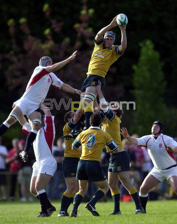 Pix: Matthew Lewis/SWpix.com. International Rugby Union. U21 Rugby World Cup. Australia v England. 13/06/03...COPYRIGHT PICTURE>>SIMON WILKINSON>>01943 436649>>..Australia's Will Caldwell.