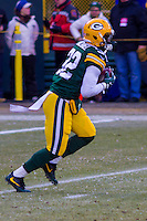 Green Bay Packers running back Christine Michael (32) prior to a game against the New York Giants on January 8th, 2017 at Lambeau Field in Green Bay, Wisconsin.  Green Bay defeated New York 38-13. (Brad Krause/Krause Sports Photography)