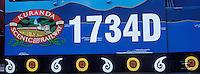 Océanie/Australie/Queensland/Kuranda: detail ed la decoration des wagons du train touristique le Kuranda Scenic Railway qui traverse la rainforest