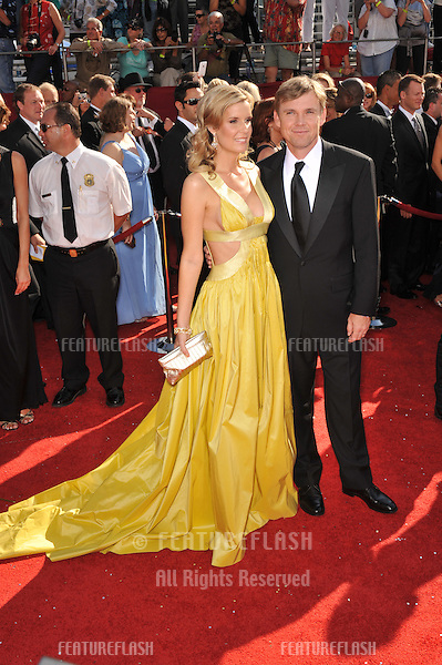Rick Schroder & wife Andrea Bernard at the 2008 Primetime Emmy Awards at the Nokia Live Theatre. .September 21, 2008  Los Angeles, CA..Picture: Paul Smith / Featureflash