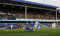 A wide angle view of Queens Park Rangers' Conor Washington getting in a first half shot which hit the post <br /> <br /> Photographer /Rob NewellCameraSport<br /> <br /> The EFL Sky Bet Championship - Queens Park Rangers v Cardiff City - Saturday 4th March 2017 - Loftus Road - London<br /> <br /> World Copyright &copy; 2017 CameraSport. All rights reserved. 43 Linden Ave. Countesthorpe. Leicester. England. LE8 5PG - Tel: +44 (0) 116 277 4147 - admin@camerasport.com - www.camerasport.com